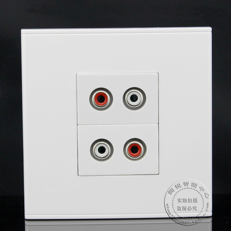 86MM Wall Face Plate 2 Ports AV Audio Video Outlet Socket Assorted Panel Faceplate