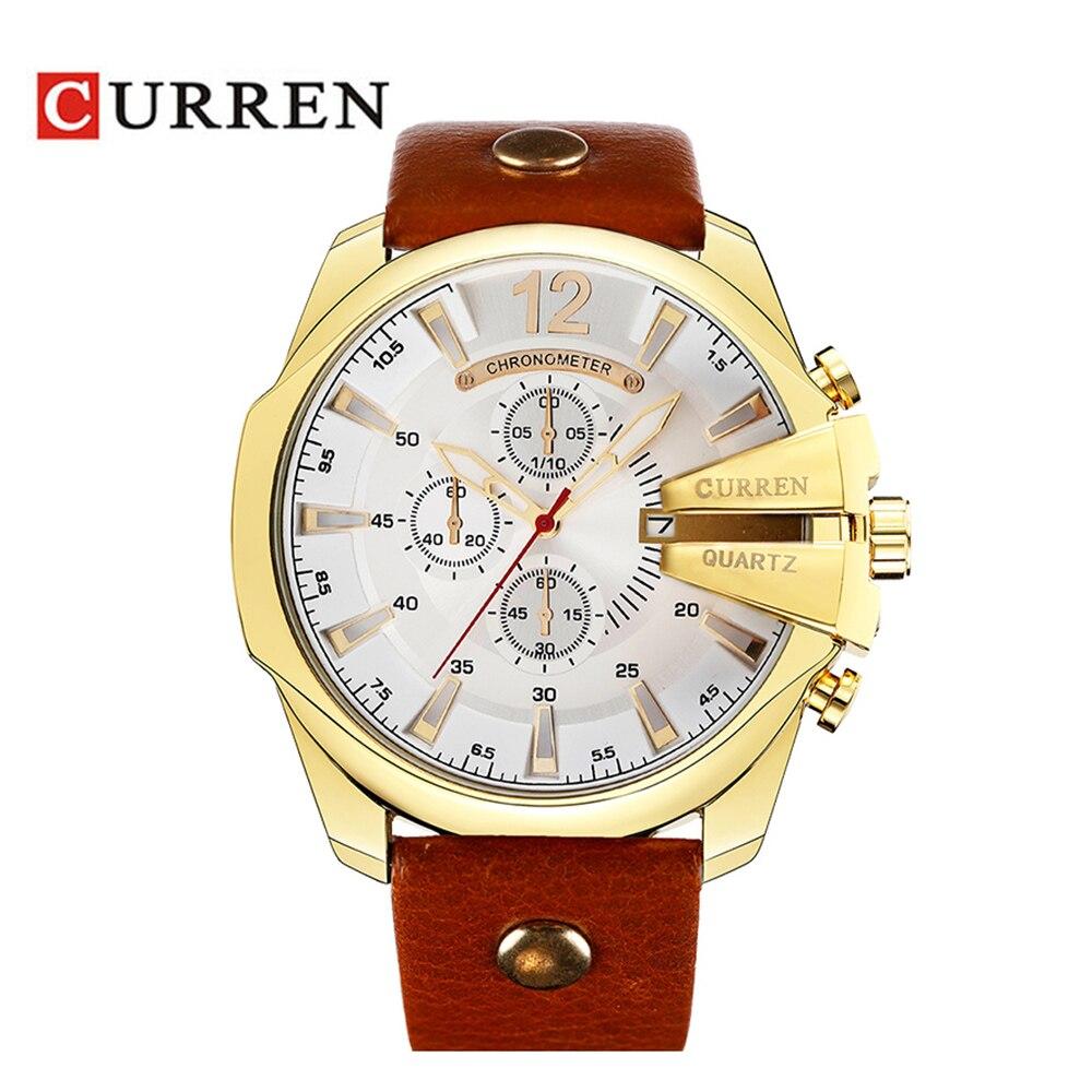 2018 stil Modeuhren Super Mann Luxusmarke CURREN Uhren Männer frauen Uhr Retro Quarz Relogio Masculion 8176