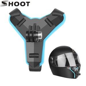 Image 1 - Съемка мотоциклетный шлем передний подбородок кронштейн держатель адаптер крепление для GoPro Hero 9 7 8 5 черный Xiaomi Yi 4K Sjcam Eken Go Pro 7