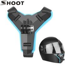 ยิงรถจักรยานยนต์คางด้านหน้าวงเล็บMountสำหรับGoPro Hero 9 8 7 5สีดำ4 Dji Osmo Xiaomi Yi 4K Sjcam Eken Go Pro 7กล้อง