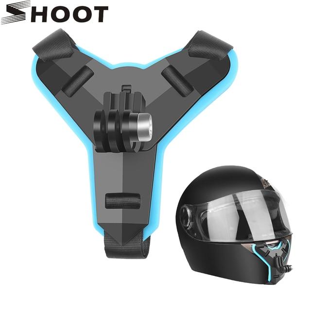 SHOOT for GoPro Hero 8 7 6 5 Motorcycle Helmet Front Chin Fixed Mount Bracket for Go Pro Yi 4K Dji Osmo Sjcam Eken Action Camera