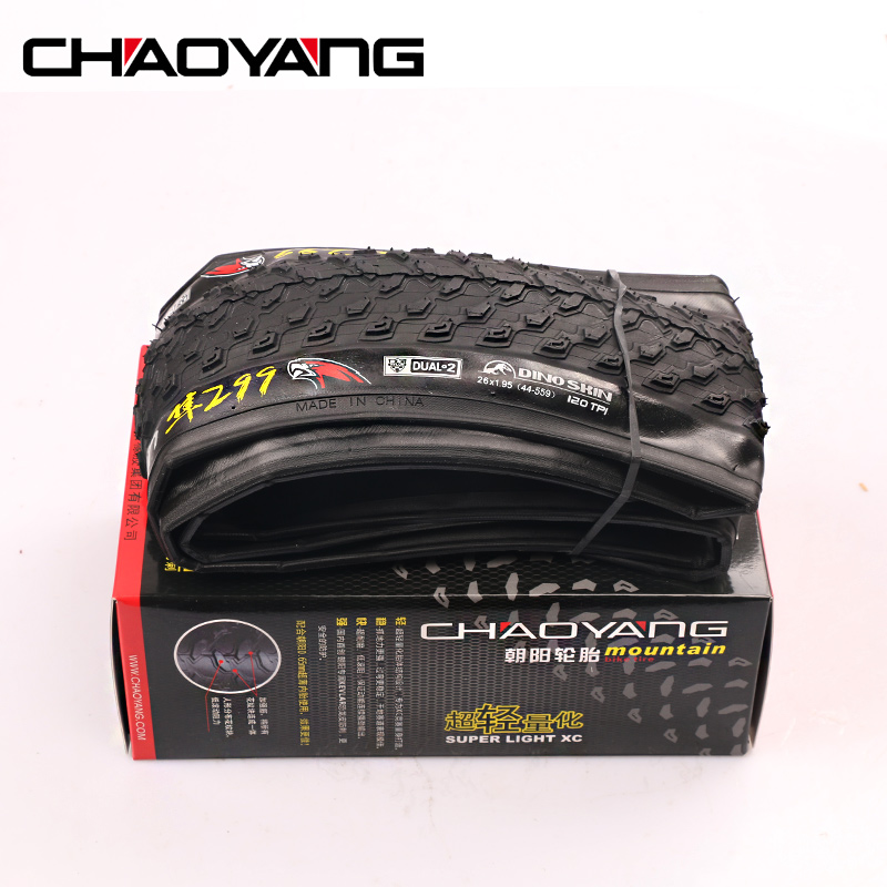 CHAOYANG SUPER LIGHT XC 299 Foldable Mountain Bicycle Tyre Bicycle Ultralight MTB Tire 26/29/27.5*1.95 Cycling Bicycle Tyres plus size polka dot button tank top