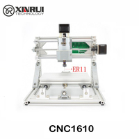 CNC 1610 + 2500 МВт ER11 grbl Diy мини ЧПУ высокой мощности лазерной гравировки, 3 оси печатных плат фрезерный станок, дерево маршрутизатор