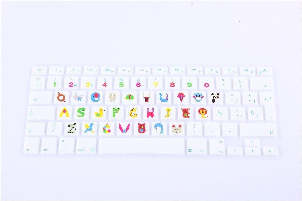 Neue EU/UK layout Spanisch Ombre Farben Silikon Skin Laptop für ...