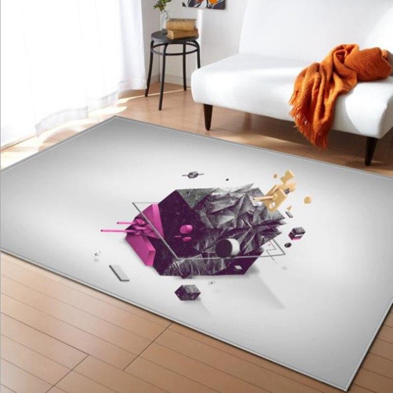 LIU tapis grand salon 3D personnalité Simple moderne nordique tapis chambre tapis Table à thé rectangulaire tapis de sol mode doux - 3