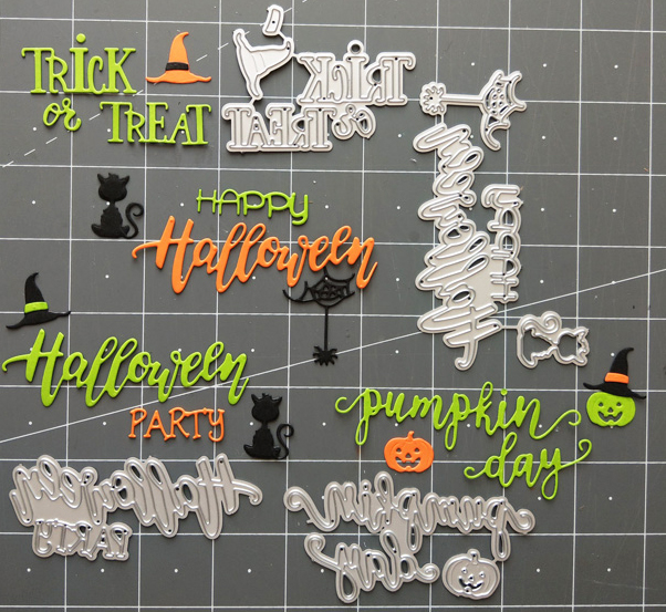 Craft Dies Stencil Paper-Card Phrase Metal Cutting Scrapbooking/photo-Album Halloween