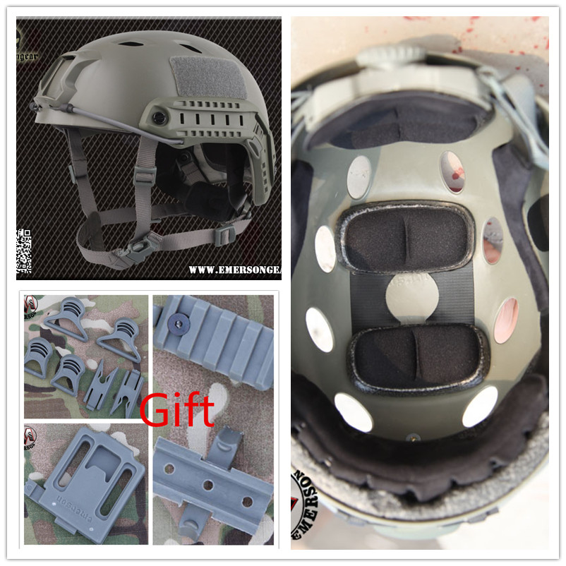 ABS Base Jump Helmet EMERSON FAST Helmet FG colour EM5659 protective Tactical outdoor movement helmet tactical fast helmet pj type sports protective helmet black de fg cycling helmet abs material m l