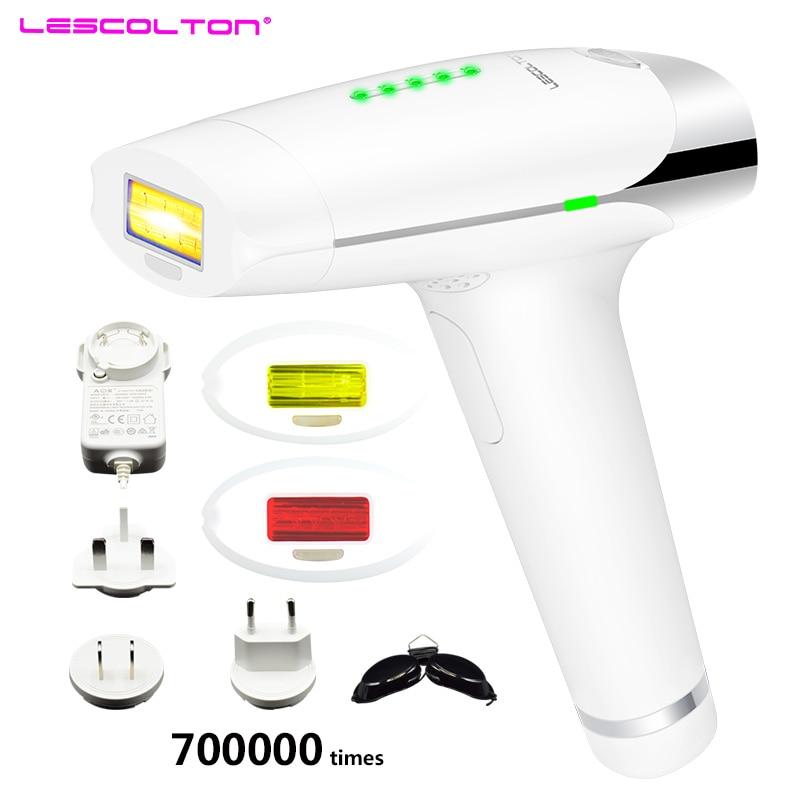 700000 veces máquina de depilación láser Lescolton depiladora láser depilator depilación Bikini recortador eléctrico para mujer-in Depiladoras from Electrodomésticos    1