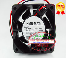 New Original NMB 2410ML-05W-B80 DC24V 0.34A 60*60*25MM 6CM frequency converter cooling fan