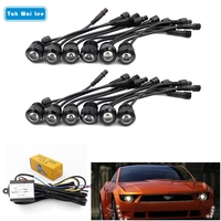 Multi Function 12Pcs Set LED DRL Daytime Running Light Car Styling Waterproof Eagle Lamps Relay Harness