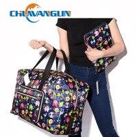Chuwanglin Reisetasche Frauen Große Kapazität Portable Schulter Duffle Tasche Cartoon Druck Wasserdicht Wochenende Gepäck Tote A0091