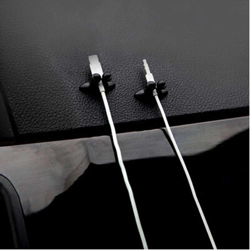 8 PCS Car Charger สาย Clamp Clamp หูฟัง/USB Cable Car Clip สำหรับ Mini Cooper Countryman R56 R50 R53 f56 F55 R60 R57