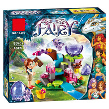 цена на BELA 10499 83pcs Fairy Elves Emily Jones And the Baby Wind Dragon Building Blocks Set Girls Toys Gift Compatible Friends 41171