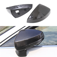 1:1 Replacement For Audi A3 S3 Carbon Rear View Mirror Cover With & Without Lane Side Assist A3 Mirror cover Car Styling 2014 UP