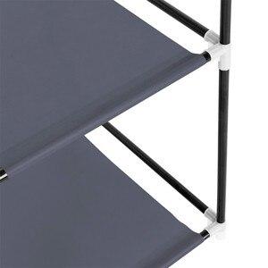 Image 5 - DIY Собранный нетканый шкаф для одежды многослойный пылезащитный шкаф для хранения одежды шкаф для спальни одеяло разное Органайзер стойка
