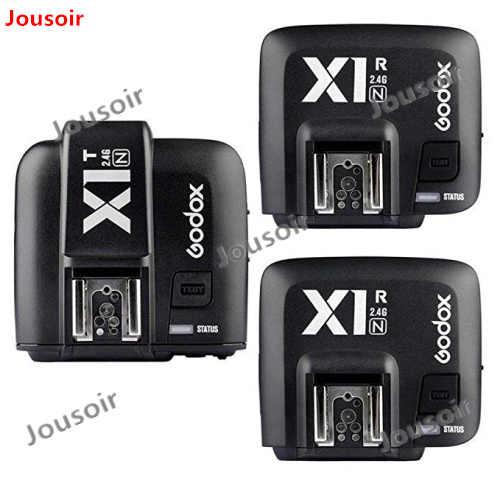Godox X1N TTL 2.4g Trasmettitore Senza Fili + 3 x Ricevitore Kit Per N D800 D3X D3 D2X D2H D1H d1X D700 D300 D200 D100 CD50