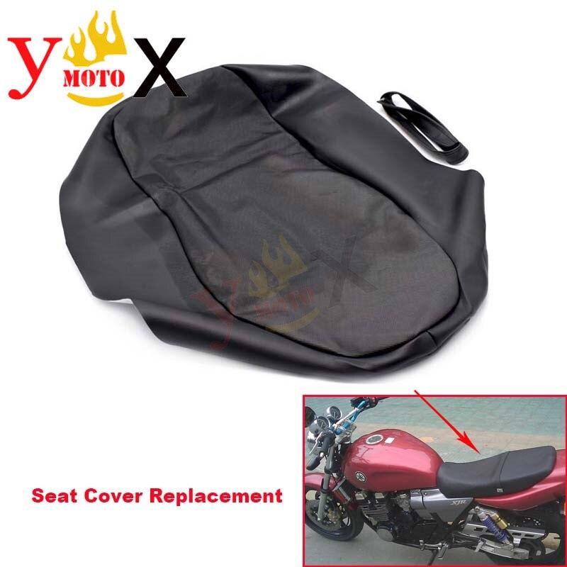 Kalın Siyah PU Deri Motosiklet klozet kapağı Yastık Koruma Su Geçirmez Yedek Yamaha XJR400 eski Model|Koltuk Kılıfları|   -