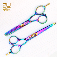 PURC Hot sale Hair scissors professional hith quality 6.0inch hair cutting 5.5inch hair thinning scissors hair set free shipping