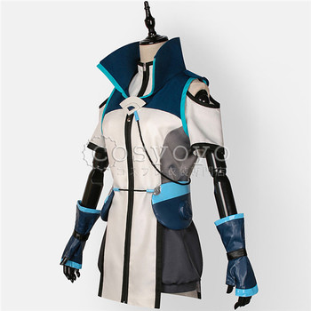 2019 New Anime Cosplay costume  Knight's magic Ayr cos Top+Vest+Pants Full Sets A