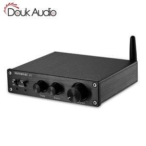 Image 1 - 2019 Nobsound HiFi Bluetooth 5.0 wzmacniacz cyfrowy Stereo domowe audio 200W z regulacją tonów wysokich i niskich