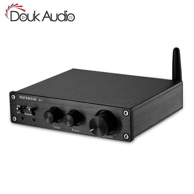 2019 Nobsound HiFi Bluetooth 5.0 wzmacniacz cyfrowy Stereo domowe audio 200W z regulacją tonów wysokich i niskich