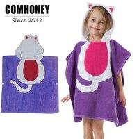 Kids Bathrobe Poncho Hooded Towel Bebes Pijamas Anima Children's Bathrobes Baby Bath Robe Girl Boy Sleepwear Beach Swim Clothes