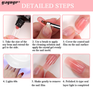 Image 5 - Yayoge Poly Gel Nail Kit With Lamp Gel Polish UV LED Poly Builder Gel set For Nail Extensions Fast Shipping From Russia Nail Art