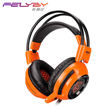 Glare games gaming headset USB headset 7.1 bass vibrating cafe computer headset with wheat glare V3Tgaming headset