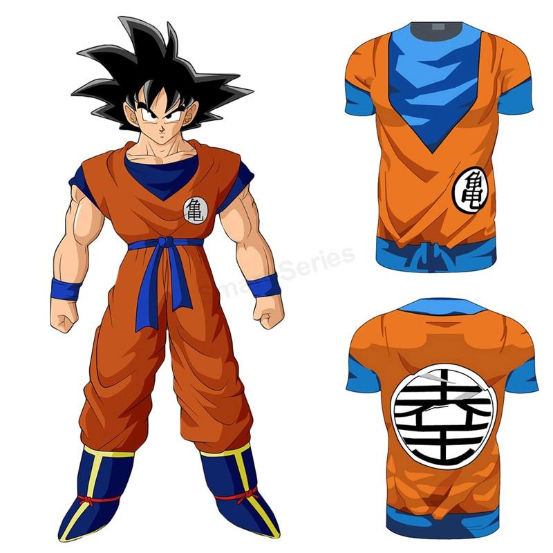 2017 Nuevo Dragon Ball camiseta hombres vegeta Goku Super Saiyan Dragon  Ball Z Cosplay traje 3D camiseta homme 07d8395deebc8