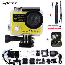 Богатый действие Камера H3 h3r двойной Экран Ultra HD Wi-Fi 4 К/25fps 1080 P 170d объектив Go Pro Стиль водонепроницаемый Экстремальные виды спорта Камера