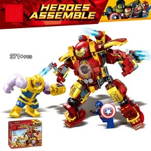 New Superheroes Thanos Hulkbuster Iron Man Hulk Buster Building Blocks Compatible Marvel Avengers Endgame Infinity War Toy 76104