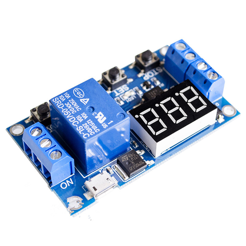 цена на One relay module XY-J02 time delay power cut off trigger delay cycle timing circuit switch.