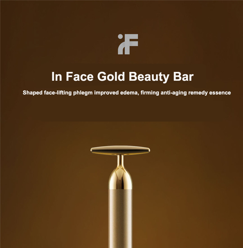 Xiaomi InFace Gold Beauty Bar Gold-plated Massage head Speed Up Metabolism Improve Edema Face-lifting SPA Portable Beauty Bar (5)