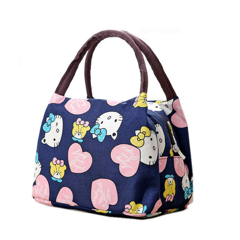 Girl Cartoon Hello Kitty Lunch Bag Portable Insulated Cooler Bags Thermal  Food Picnic Lunch Bags Women c54bc56c055b5