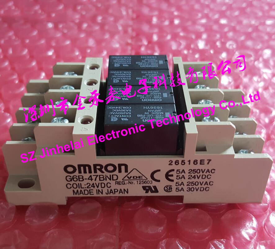 OMRON G6B-47BND DC24V New and original Relay terminal module new and original h3ca 8h dc24v and ac220v omron time relay
