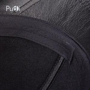 Image 5 - Hl091 봄 정품 가죽 남자의 야구 모자 모자 남자의 진짜 가죽 조정 가능한 트럭 운전 검은 snapback 모자 모자