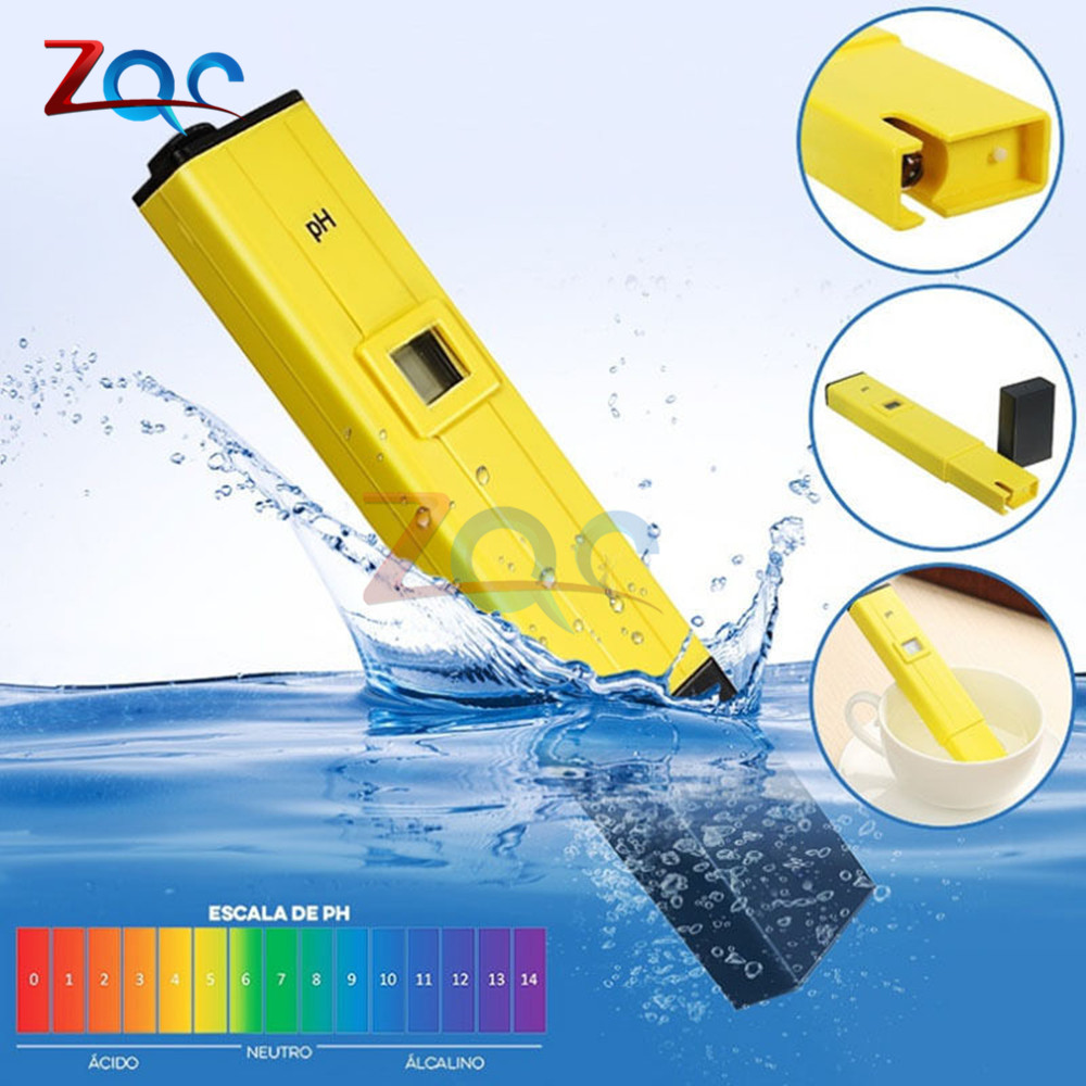 Digital pH meter Ph pen tester acidity water PH meter professional for Home school laboratory Aquaculture aquarium swimming pool professional 2 in 1 soil moisture meter and ph level tester agriculture hydroponics farming analyzer for plants