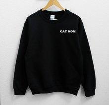 цена на Sugarbaby Cat Mom Sweatshirt Long Sleeve Fashion Jumper Casual Tops Crew Neck Cat Lover Sweatshirt High quality Jumper Drop ship