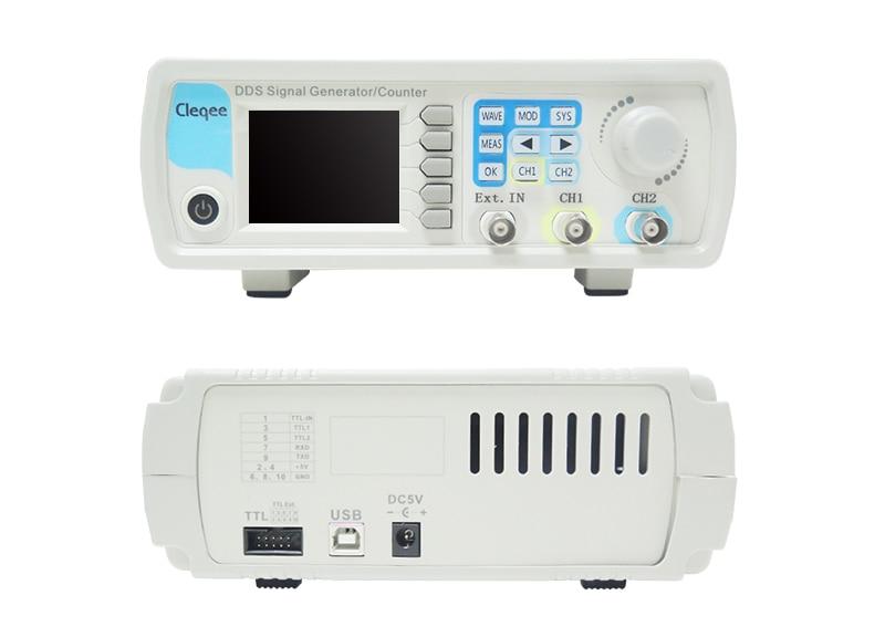 Cleqee JDS6600-50M JDS6600 Series 60MHZ Digital Control Dual-channel DDS Function Signal Generator frequency meter ArbitraryCleqee JDS6600-50M JDS6600 Series 60MHZ Digital Control Dual-channel DDS Function Signal Generator frequency meter Arbitrary