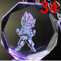 [SGDOLL] Hot Anime Dragon Ball Z DBZ Keychain Son Gohan Crystal Glass Flashing LED Light Ring Keyring Pendant Toy 16101315