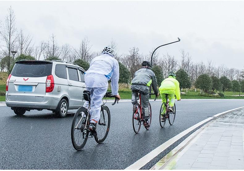 Radfahren Fahrrad Regenjacke Set Wasserdicht Winddicht Reflektierender Streifen