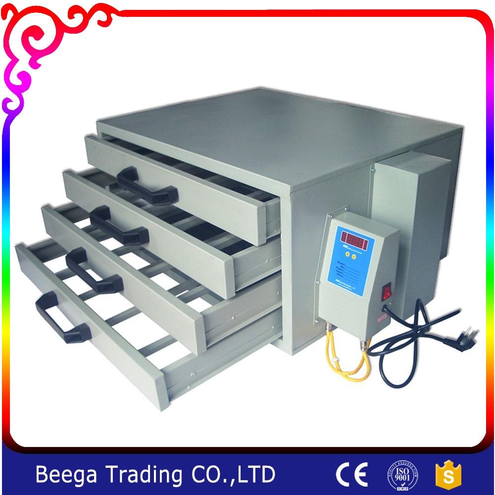 110 V-os szárítószekrény A 4 rétegű szitanyomó berendezés hőmérséklet-szabályozó lemez póló melegítésére