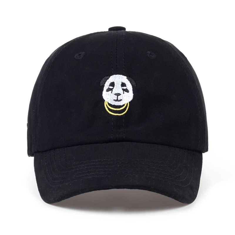 VORON 2017 new Panda Gold Chains Baseball Cap Curved Bill Dad Hat men women 100% Cotton golf snapback cap hats wholesale retail unsiex men women cotton blend beret cabbie newsboy flat hat golf driving sun cap