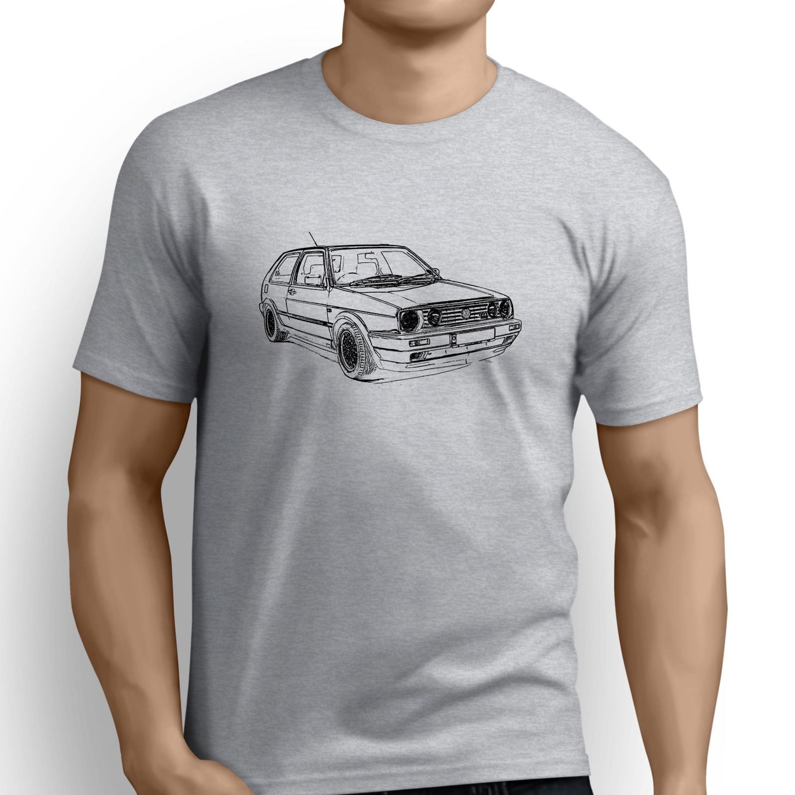 Brand Clothing 2018 Male Harajuku Top Fitness Brand Clothing Japanese Car Fans Golfs Gti Mk2 Inspired Car Christian T Shirt