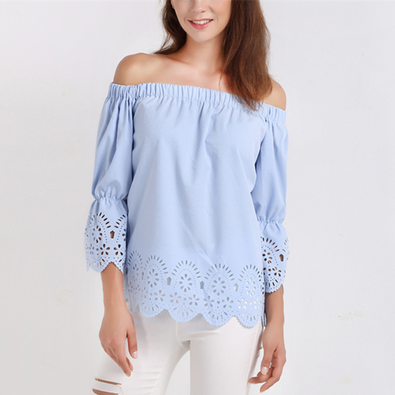 Popular Light Blue Blouse-Buy Cheap Light Blue Blouse lots from ...