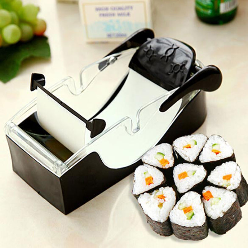 Kitchen Magic Roll Simple Sushi Rice Ball Cooking Maker Cutting Machine DIY Perfect Tools