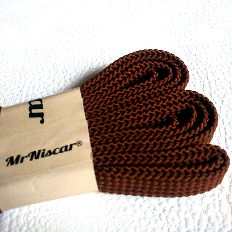 Mr.Niscar 10 Pair Fashion Sneaker Shoelaces Flat Red Brown Shoe Laces Strings for Sneakers Casual Shoes Brand Sports Shoelaces