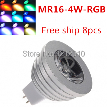 MR16 <font><b>4W</b></font> 12V 16 Colors Changing RGB <font><b>LED</b></font> Lamp Spot Light RGB <font><b>LED</b></font> Bulb Lamp Spotlight with Remote Control Free Shipping