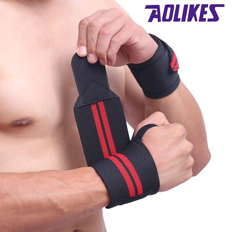 AOLIKES 1Pcs Adjustable Wrist Support Wrist Joint Brace Sport Wristband Outdoor Sports Running Fitness A-1538
