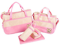 Promotion! 5pcs Mommy Bags Waterproof Baby Diaper Stroller Organizer Cooler Bag For Stroller